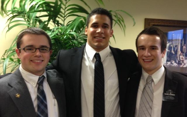 Elder Nelson, Elder Mendivil, Elder Warnick