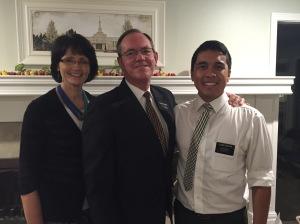 Elder Aguilar with Pres & Sis Dymock